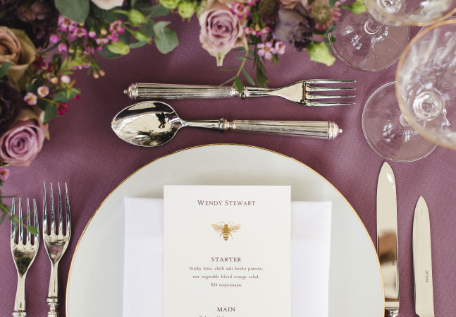 Stonor Weddings Special Occasions Menu Layout