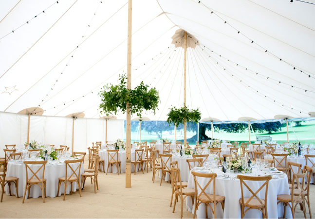 Stonor Weddings Inside Marquee Tent