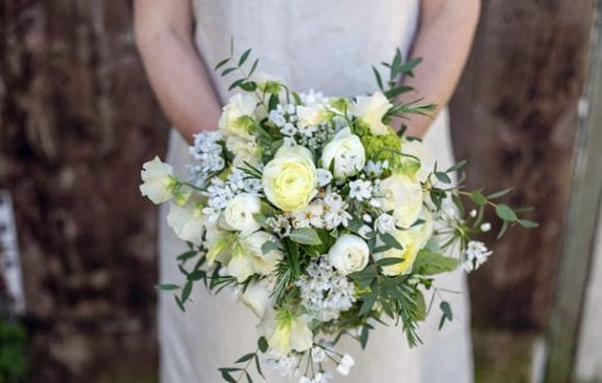 Stonor Manor Florsits Green and Gorgeous White Boquet