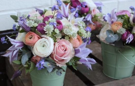 Stonor Manor Florists Ruby and Grace Potted Rose Boquet