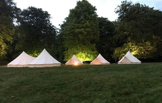 Stonor Park Accommodation Blue Bell Tents Grouped