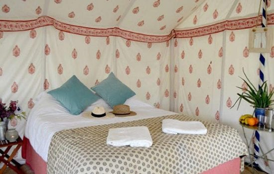 Stonor Park Accommodation Blue Bell Tents Landscape Bridal With Towels