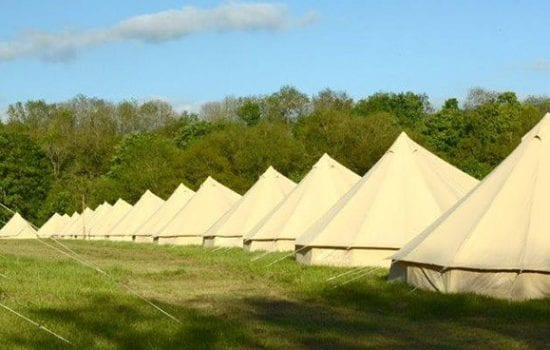 Stonor Park Accommodation Blue Bell Tents Rows