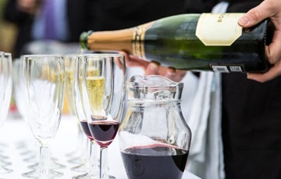 Stonor Park Home and Away Events Caterers Wine Glass